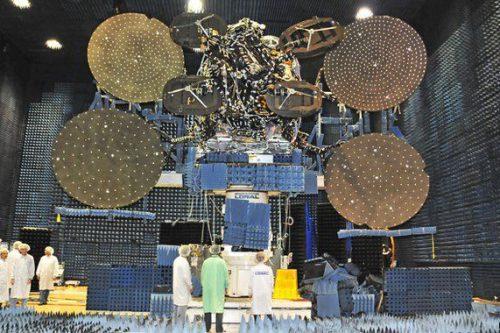 Wildblue-1 satellite under construction
