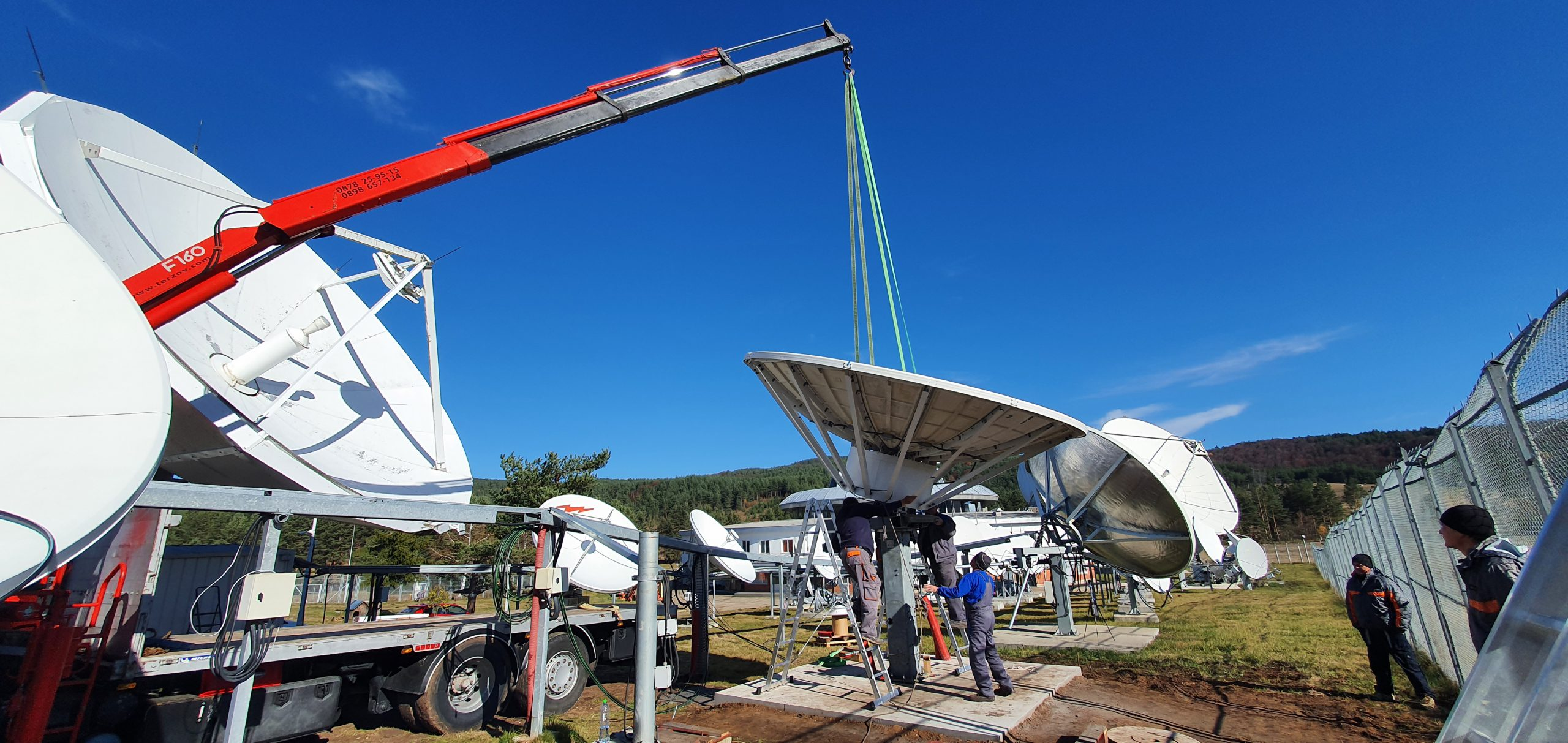 Andrew 4.6m antenna refurbished and installed at Plana Teleport in Bulgaria.