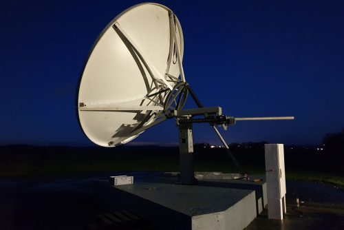 Andrew 4.5m antenna installation in UK