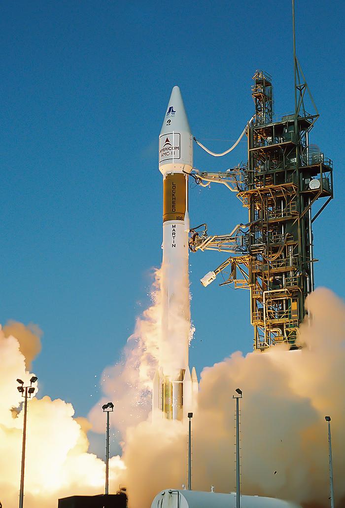 Atlas II launching SES AMC-11 Satellite