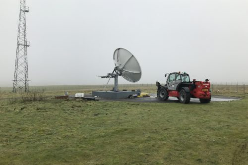 Andrew 4.5m antenna installation in UK