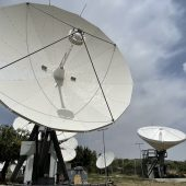 Andrew 5.6m & VertexRSI 6.3m antenna installed on Cyprus