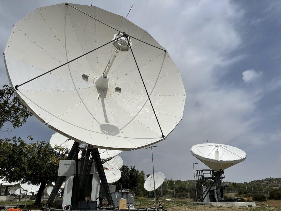 Andrew 5.6m & VertexRSI 6.3m antenna installed on Cyprus