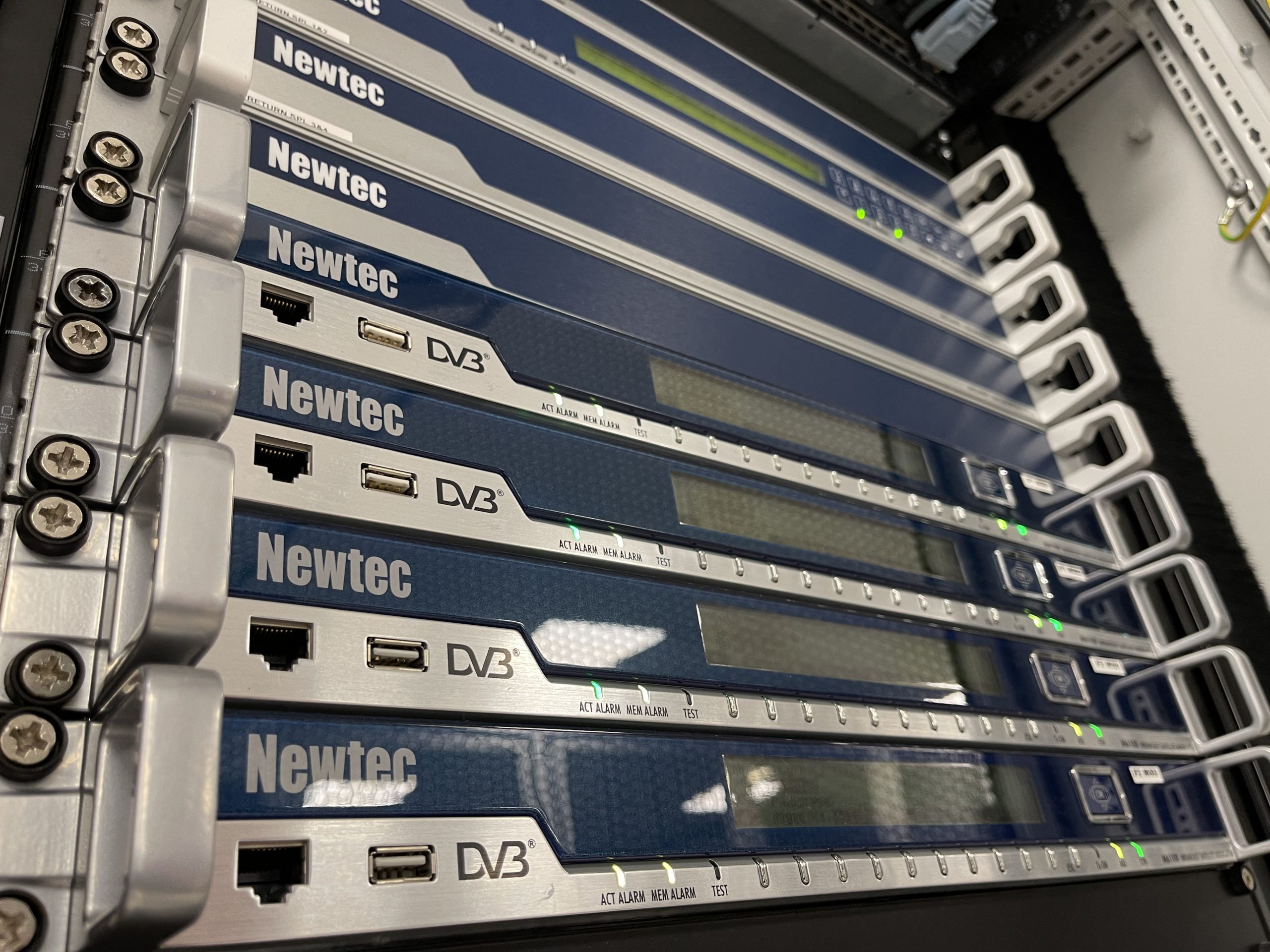 Newtec M6100 Broadcast Modulators installed