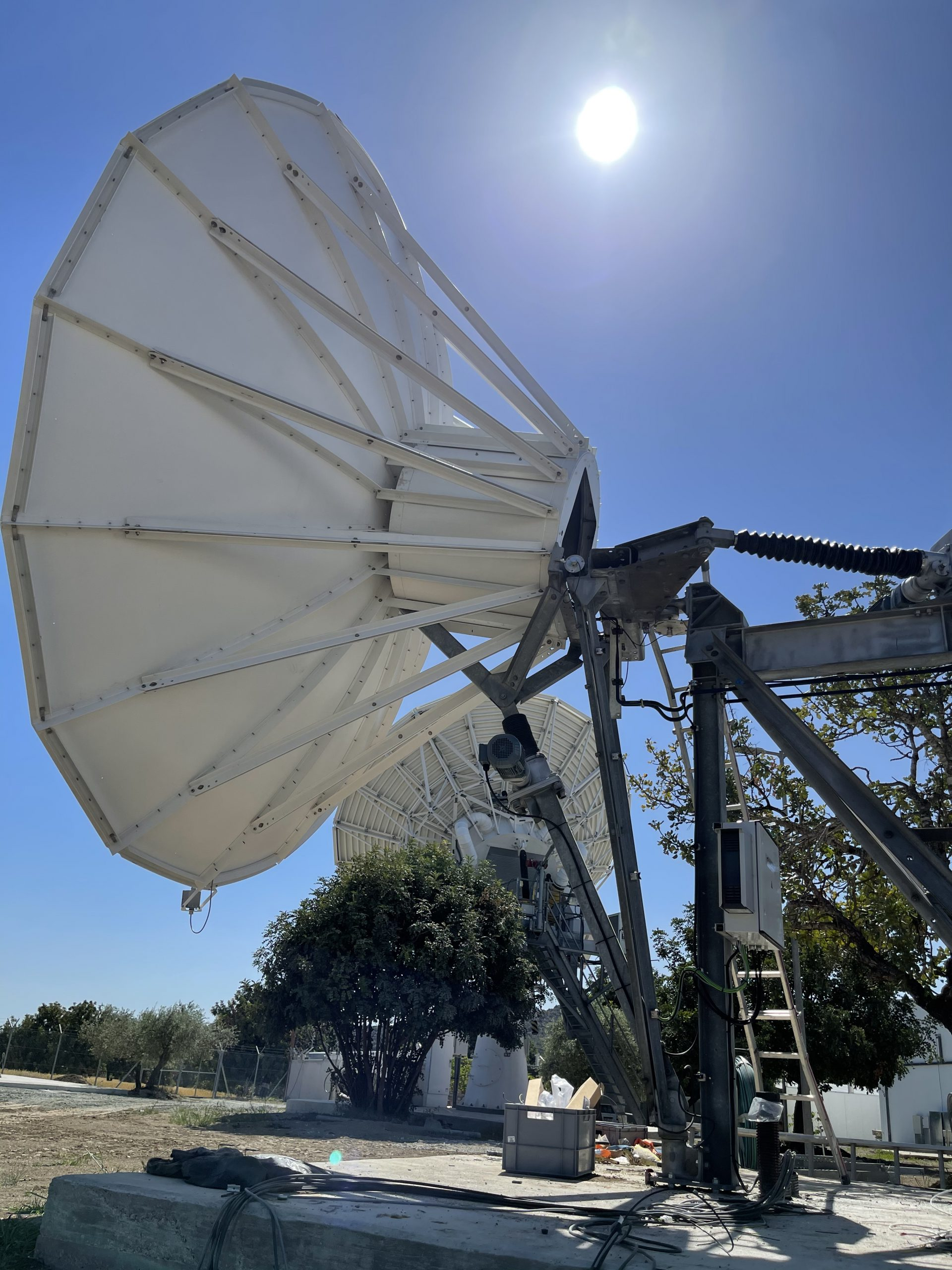 Andrew 5.6m antenna installed on Cyprus