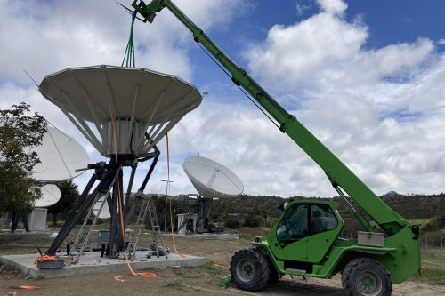 Andrew 5.6m & VertexRSI 6.3m antenna installation on Cyprus
