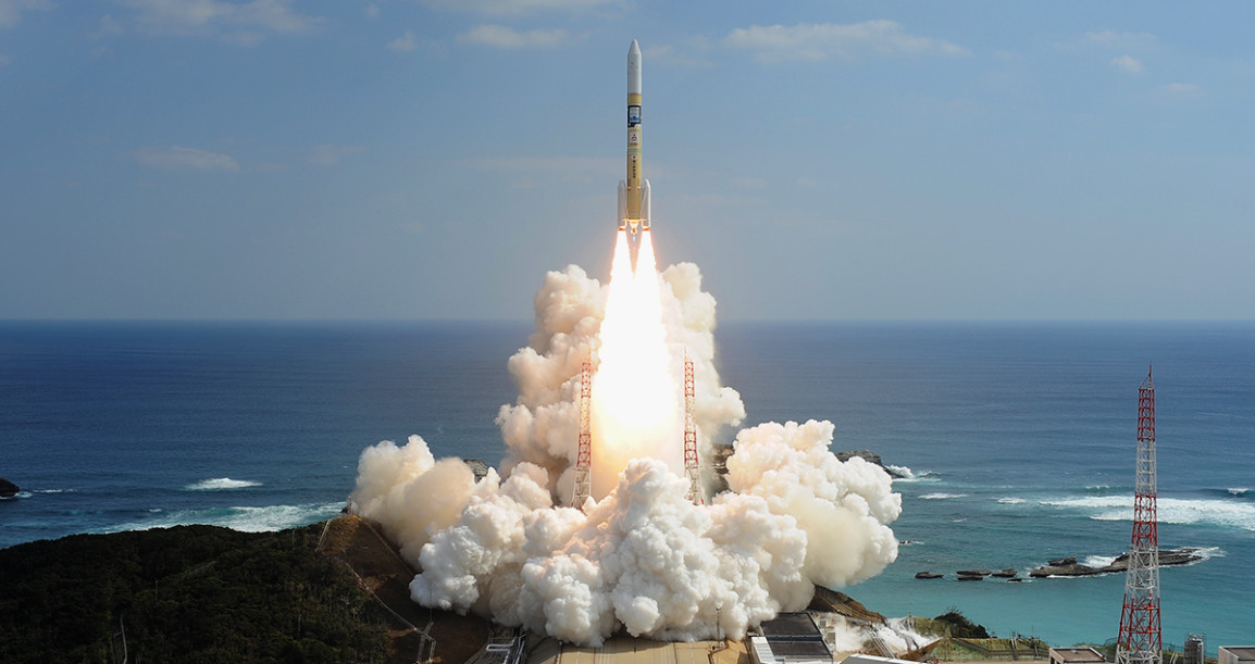 MHI H-IIA-F40 launching two Earth observation satellites