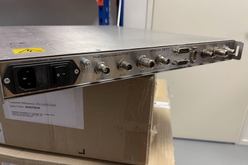 Peak P7000 frequency converter rear view