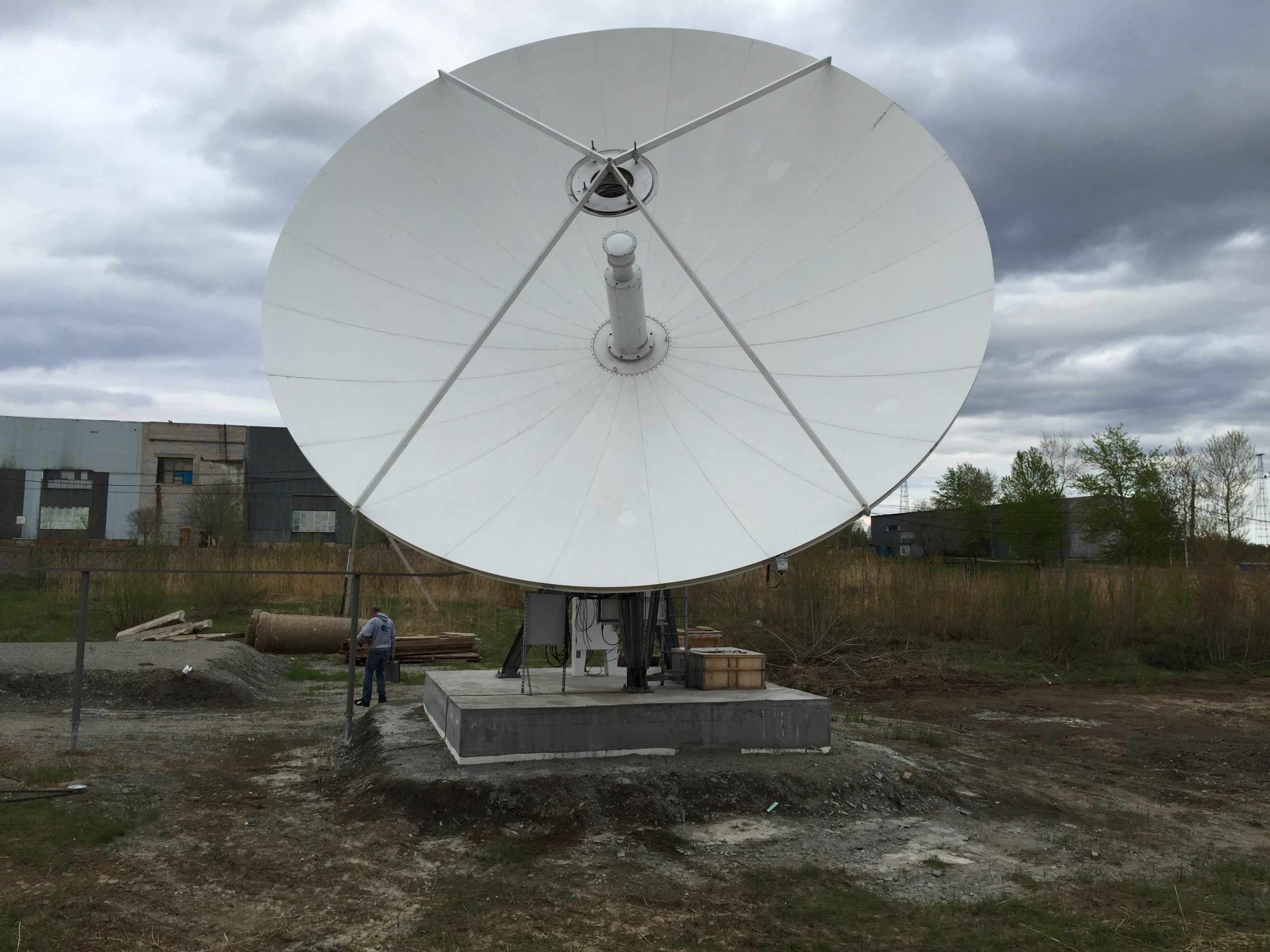 RSI 9.2m antenna in Khabarovsk Russia