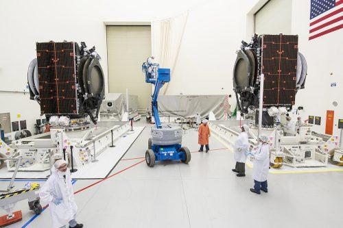 ABS-2A satellite under construction