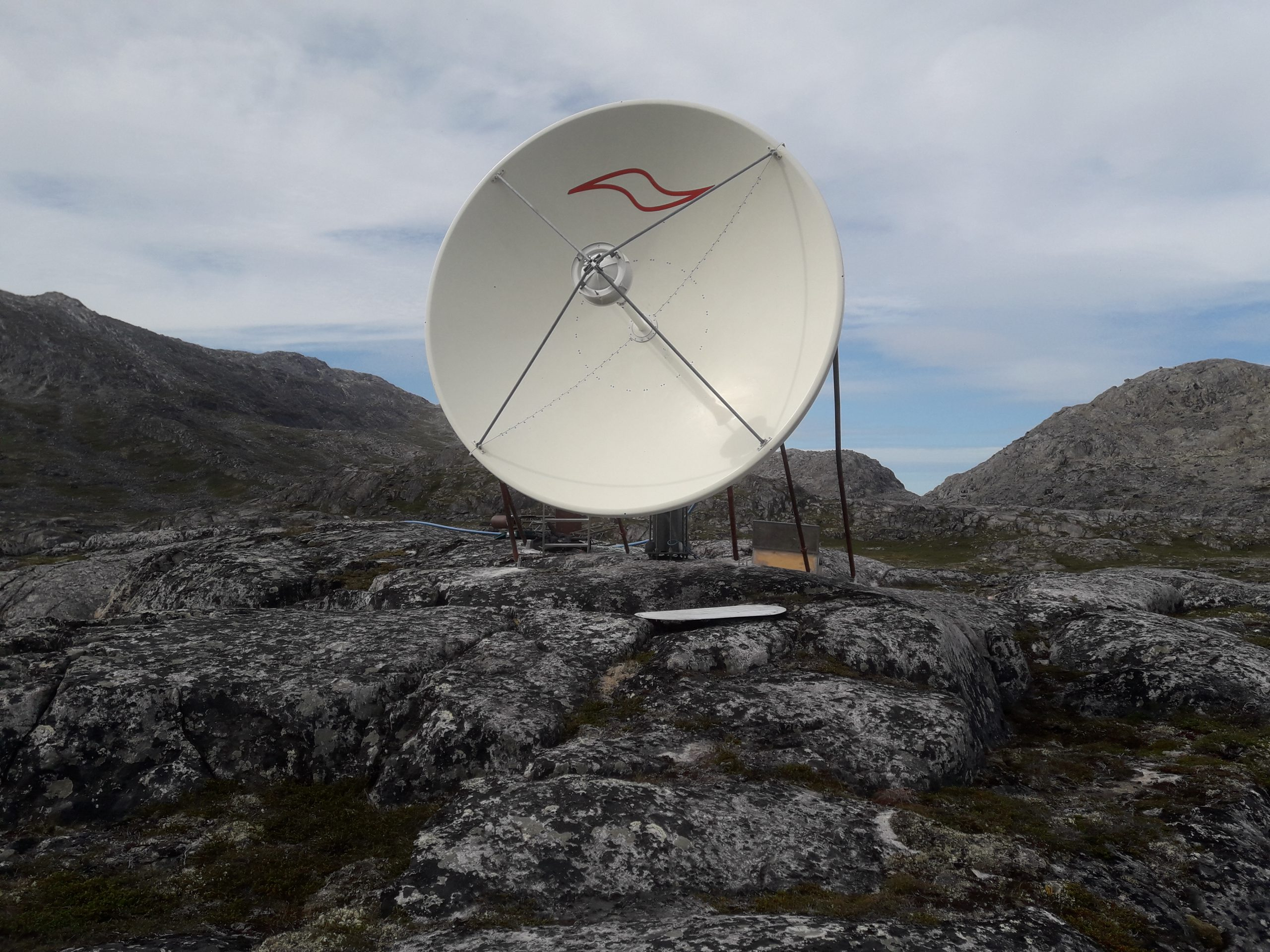 ASC Signal 3.7m antenna installed in Greenland