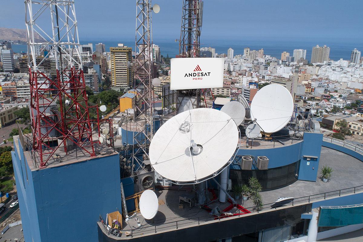 VertexrSI 6.1m antenna installed for AndeSat Peru