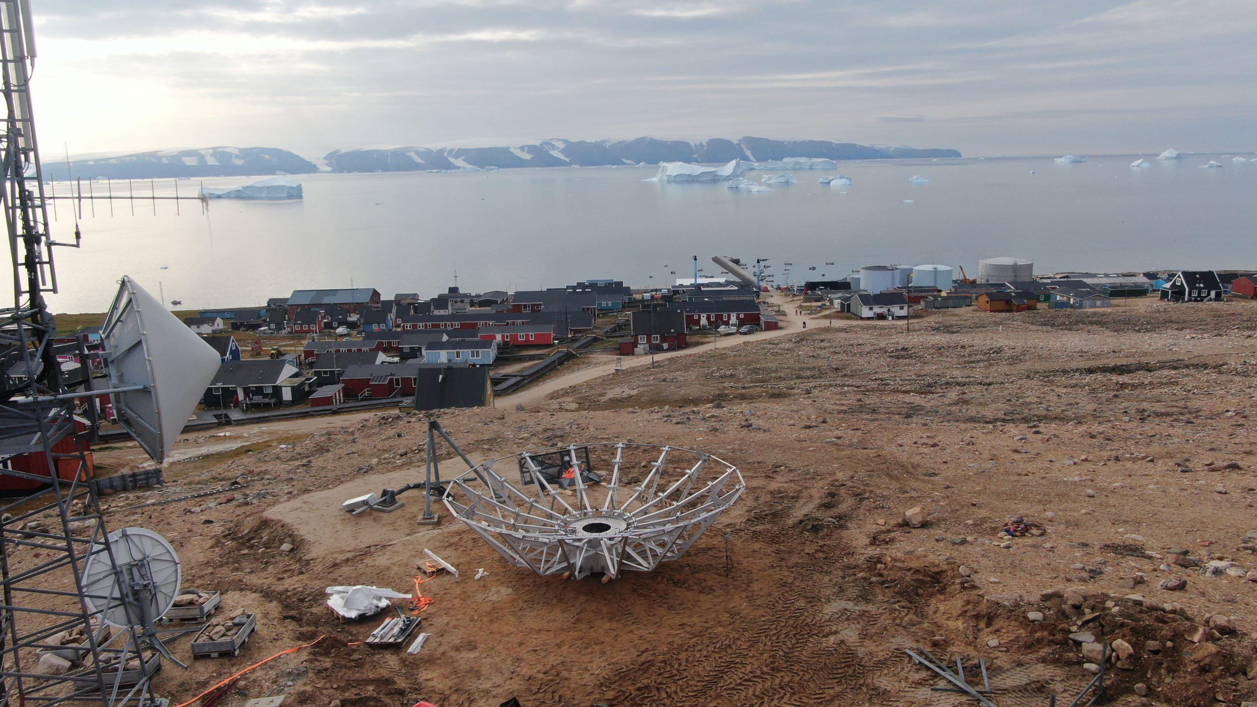 VertexRSI 7.2m installation in Qaanaaq, North-East Greenland