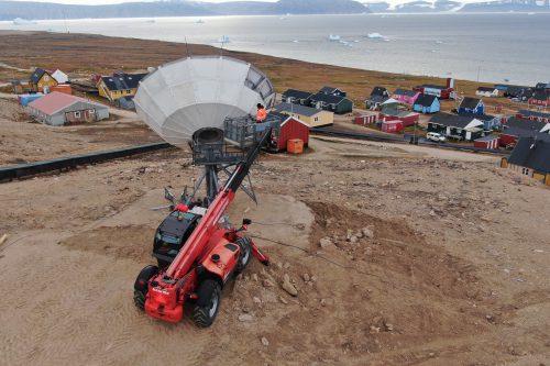 VertexRSI 7.2m Antenna installation in Greenland