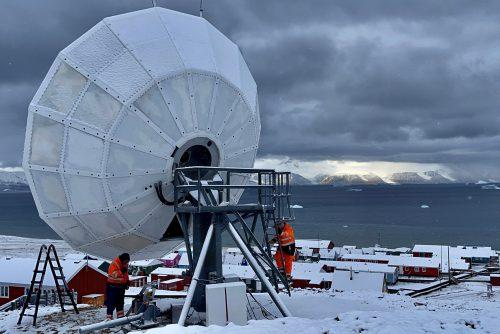 VertexRSI 7.2m antenna installation in Qaanaaq Greenland